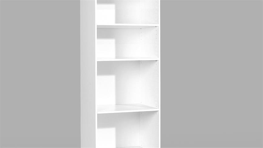 Hochschrank ESPACE Schrank Regal Kleiderschrank weiß rauh