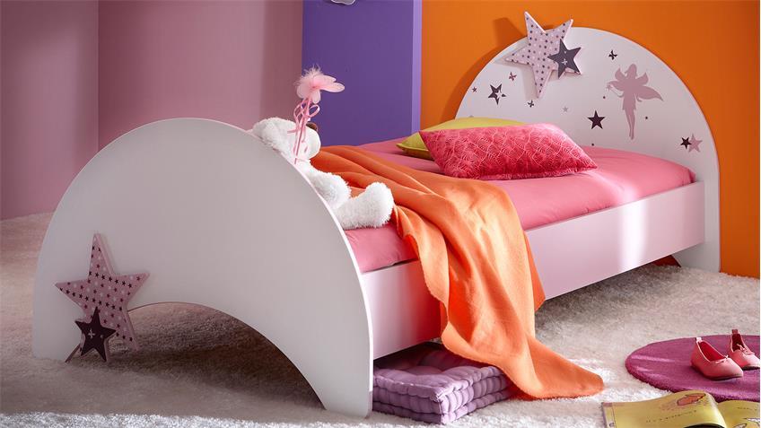 Kinderzimmer Set FEE mit Sternen weiß flieder lila Siebdruck
