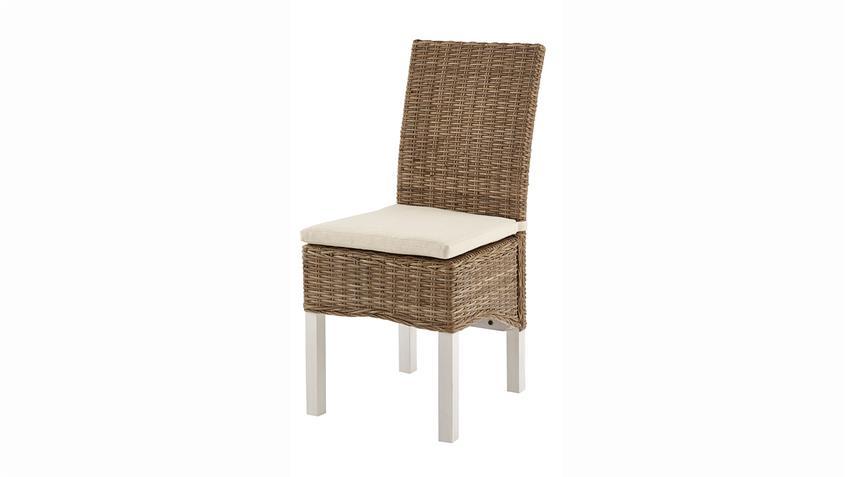 Rattanstuhl MARQUIES Stuhl Beine in Andersen Kiefer weiß