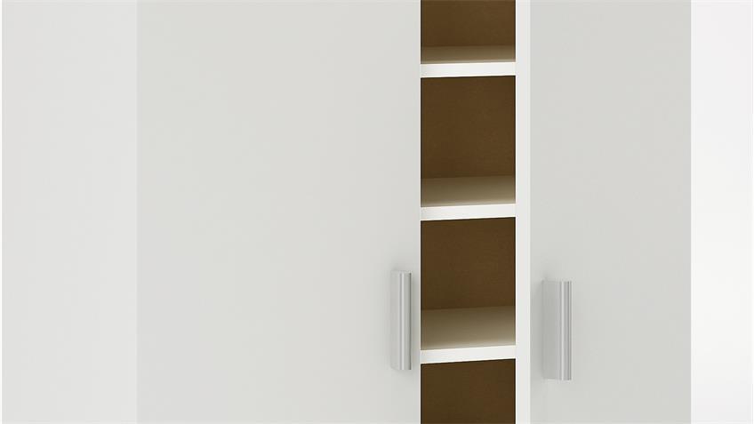 Schuhschrank SHOES mit 2 Türen in Perle weiß B 55 cm