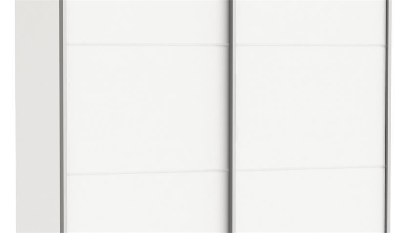 Schwebetürenschrank FAST 2 in Perle weiß B 150 cm