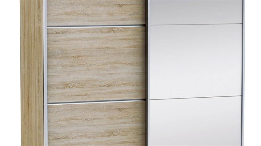 Schwebetürenschrank GLASSY in Sonoma Eiche B 154 cm