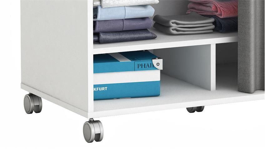 kleiderschrank mana schrank garderobenschrank in wei mit vorhang 100. Black Bedroom Furniture Sets. Home Design Ideas