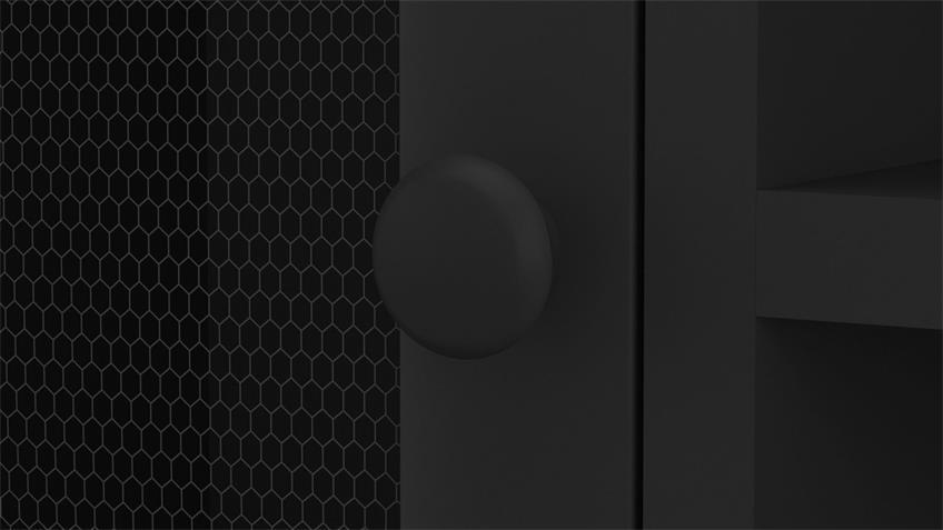Couchtisch Smoke schwarz matt Gitteroptik Industrial