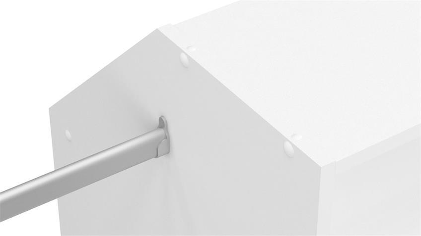 Dachschrägen-Einrichtung Sous Comble Schrank offen weiß