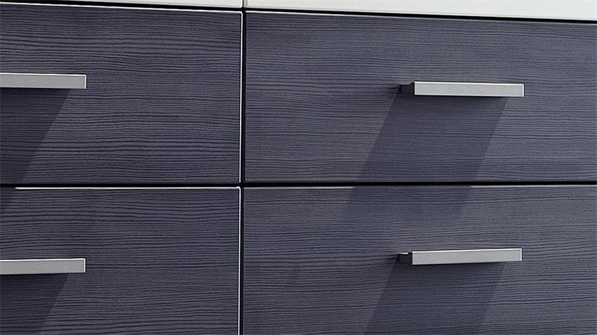 Kommode weiß Absetzung Esche grau Highboard 2-türig Studio 2