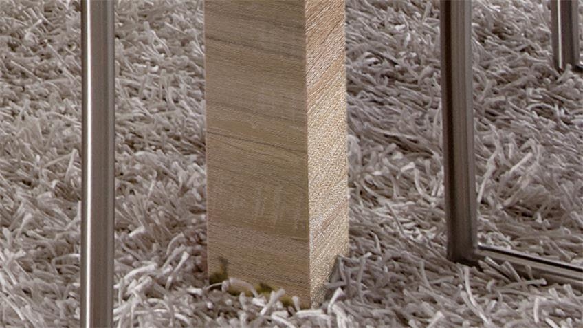 Esstisch LIGHT LINE Sonoma Eiche weiß matt lackiert 160 x 90 cm