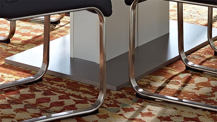 Esstisch LIGHT LINE Tisch weiß Synchronauszug 160-205 x 90 cm
