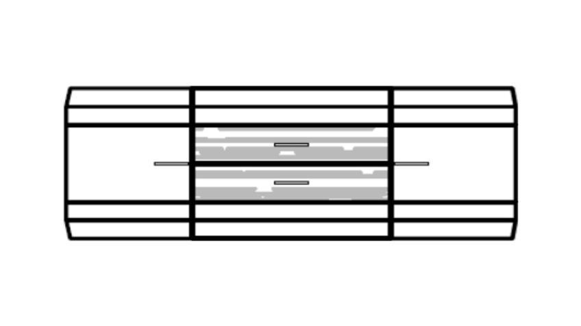 Sideboard LIGHT LINE 2 Anrichte weiß matt Lack und Eiche
