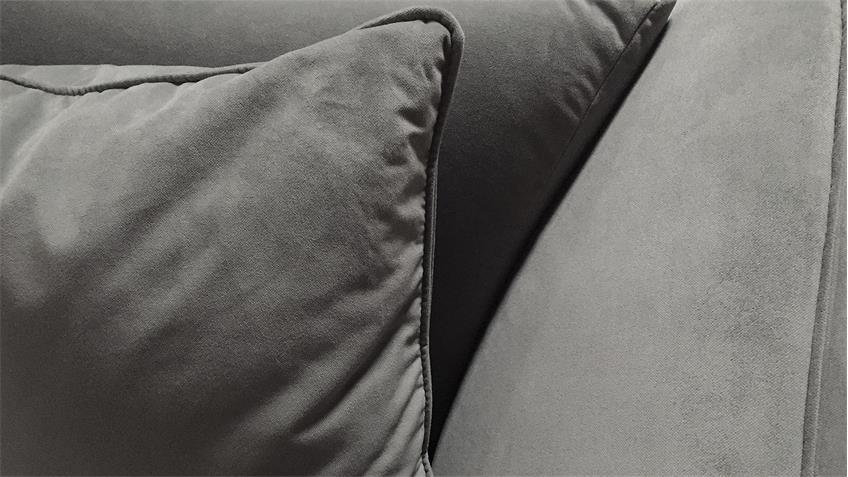 Bigsofa MARONI Sofa 3-Sitzer in grau mit Armlehnfunktion