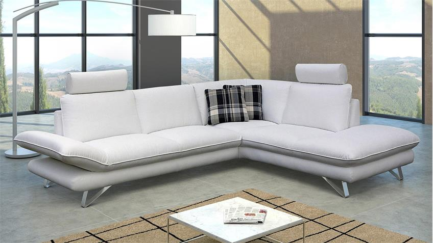 Ecksofa TAIFUNA Wohnlandschaft Sofa in weiß 220x275