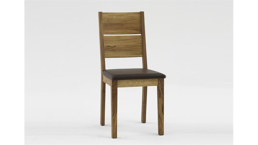 Stuhl TAKANIA Esszimmerstuhl in Kerneiche massiv geölt