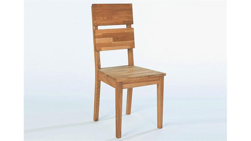 Stuhl NIO Stühle in Kerneiche massiv geölt Größe 44x97x50