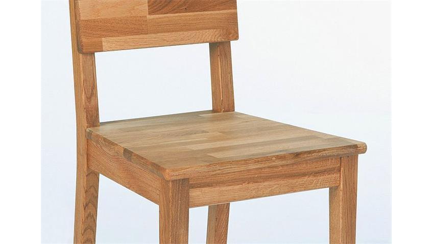 Stuhl NIO Stühle 4er Set in Kerneiche massiv geölt
