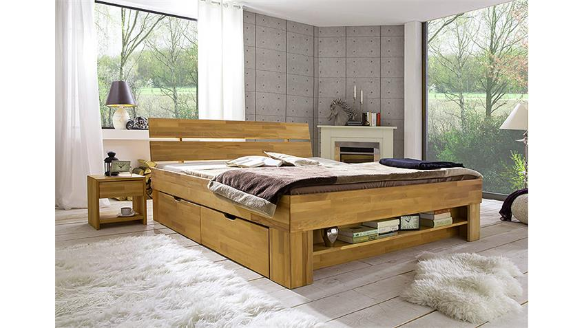 futonbett sofie kernbuche ge lt 140x200 inkl bettkasten. Black Bedroom Furniture Sets. Home Design Ideas