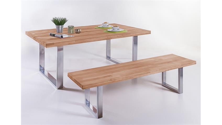Esstisch 6759 Tisch in Kernbuche massiv geölt 180x100