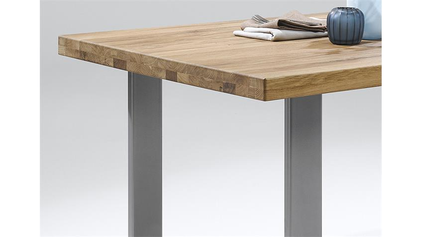 Esstisch 2560 Tisch in Eiche natur massiv geölt 200x100