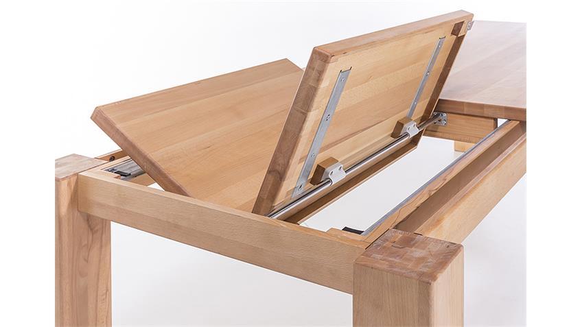 Esstisch 6752 Tisch Kernbuche massiv geölt ausiehbar 180-255