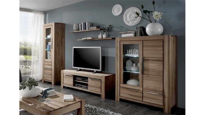 wohnwand nena anbauwand wohnkombi in wildeiche massiv ge lt. Black Bedroom Furniture Sets. Home Design Ideas