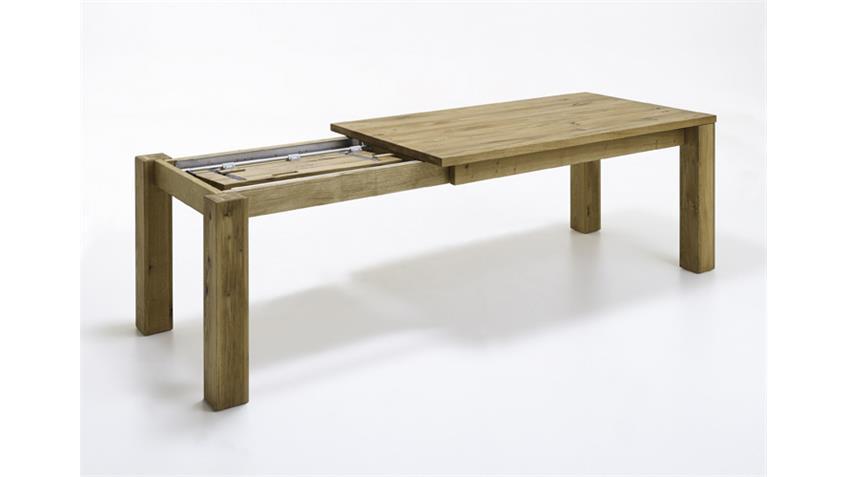 Esstisch 2750 Tisch Wildeiche massiv geölt ausiehbar 140-215