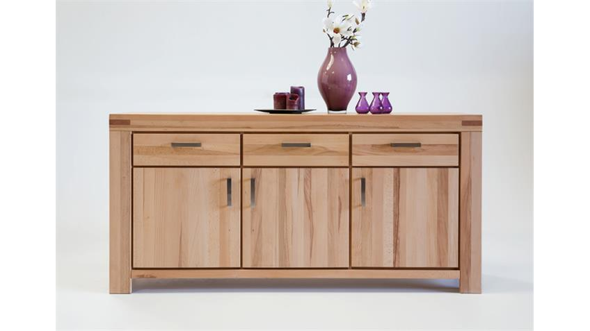 sideboard kira kommode anrichte in kernbuche massiv ge lt. Black Bedroom Furniture Sets. Home Design Ideas