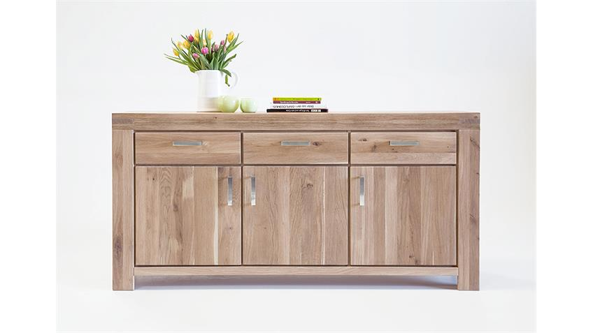 Sideboard KIRA Kommode Anrichte in Wildeiche massiv Bianco