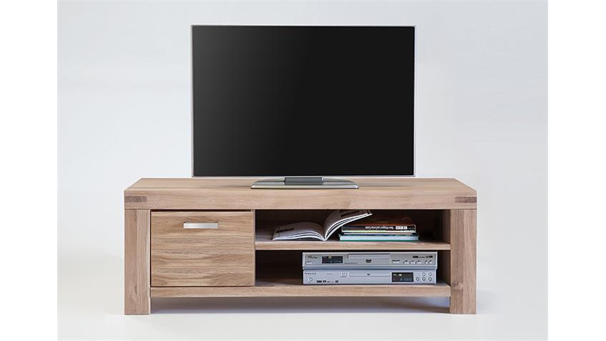 TV-Kommode 1 KIRA TV-Board in Wildeiche massiv Bianco