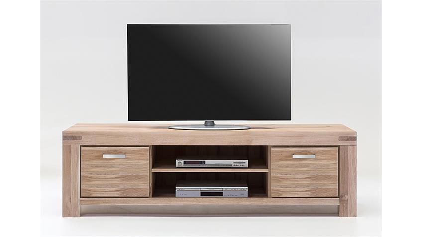 TV-Kommode 3 KIRA TV-Board in Wildeiche massiv Bianco