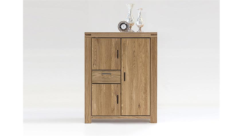 Kommode KIRA Highboard Schrank in Wildeiche massiv geölt