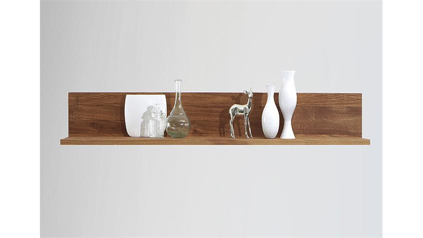 Wandboard KIRA Wandregal Regal Wildeiche massiv geölt 124 cm