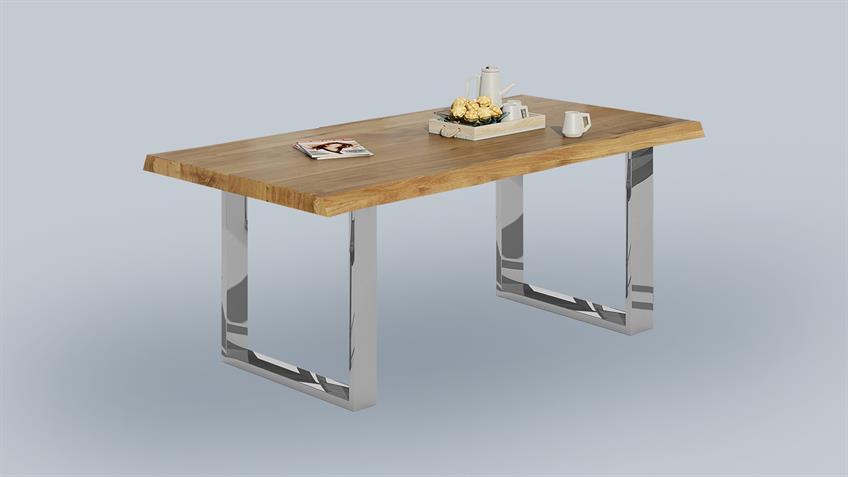 Esstisch 2570 Tisch Baumkantentisch Eiche massiv geölt 200