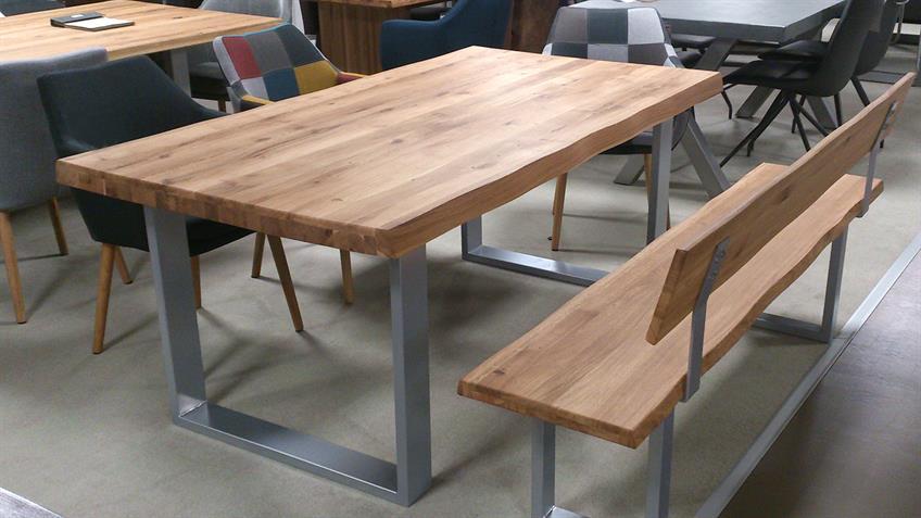 Esstisch 2580 Tisch Baumkantentisch Eiche massiv geölt 200