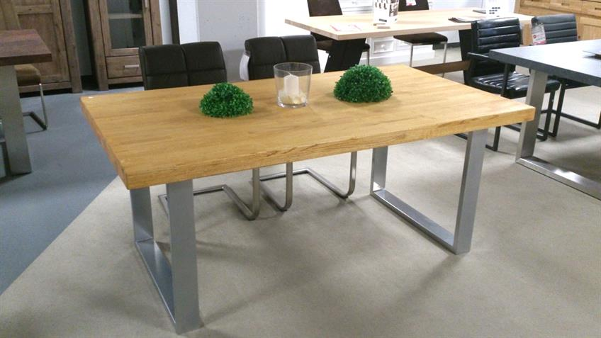 Esstisch 2559/K Tisch in Eiche natur massiv geölt 180x100