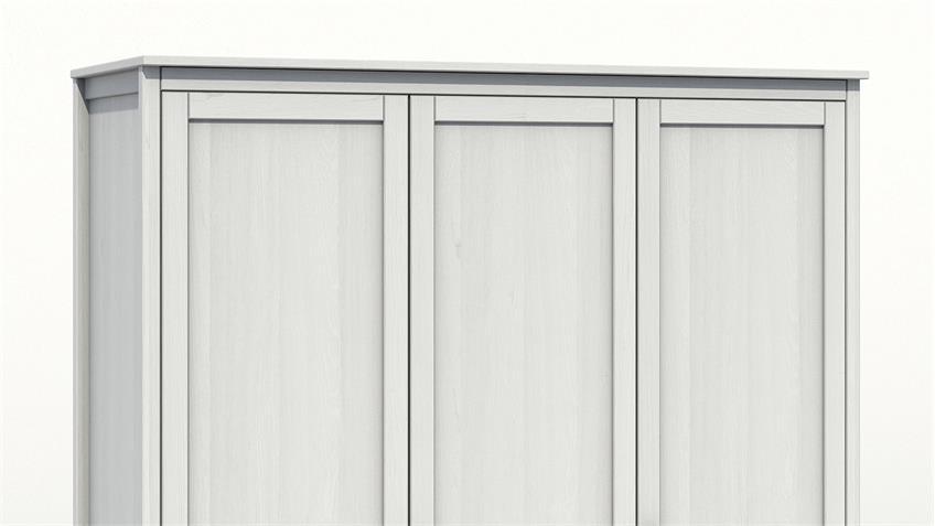 Kleiderschrank HEAL in Kiefer weiß massiv mit 3 Türen