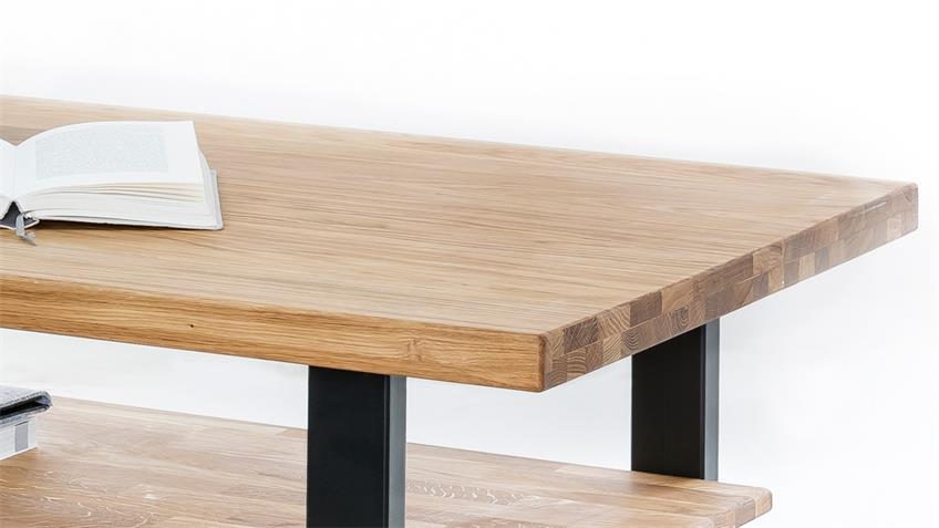 couchtisch tina beistelltisch wohnzimmer eiche massiv ge lt 115x65. Black Bedroom Furniture Sets. Home Design Ideas
