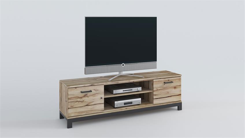 TV-Board 6504 NINA Lowboard Buche Massivholz Rustic