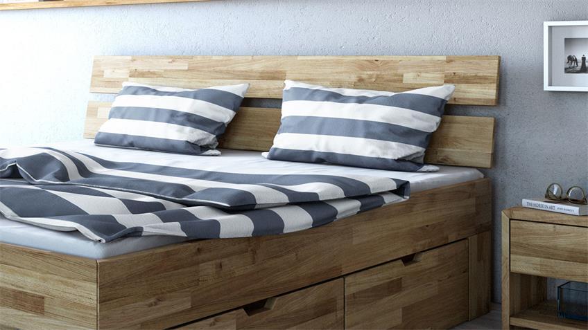 Schlafzimmer Set 4-tlg SARAH-TONI Wildeiche teilmassiv 180x200