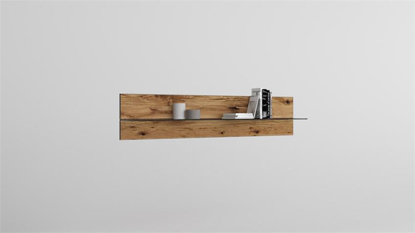 Wandboard 2280 JANNE Wandregal in Eiche furniert 118 cm