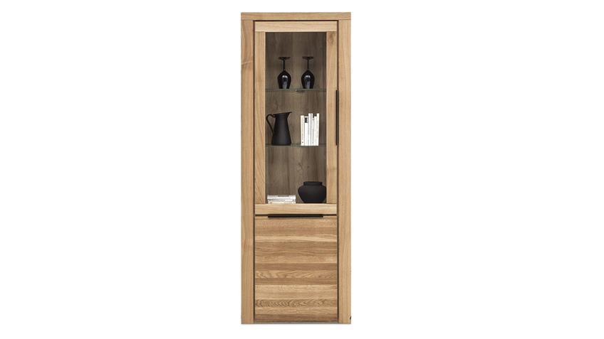 Wohnwand GRETA Wohnzimmer Set 4-tlg Eiche teilmassiv 308