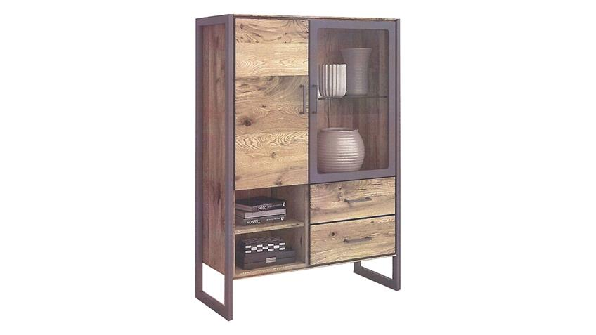 Vitrine 2272 JANNE Schrank Highboard in Eiche furniert