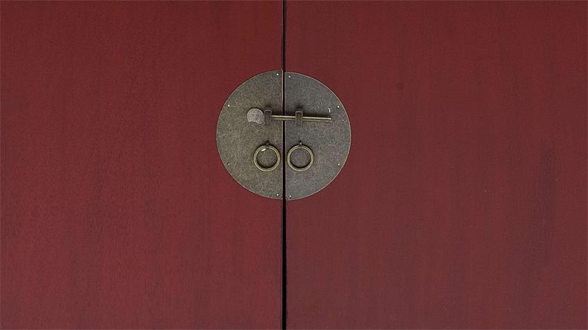 Sideboard LIN Aufbewahrung Schrank Kommode rot mit 2-türig