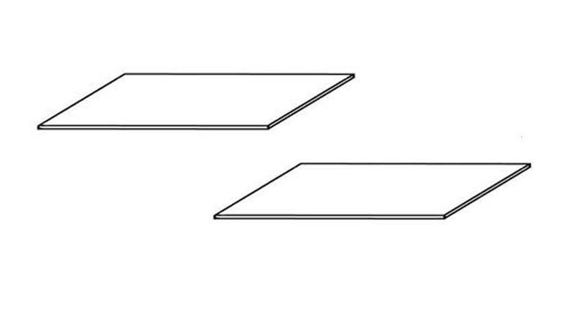 Einlegeboden 2er Set MALMÖ Kiefer massiv weiß breit 105,8 cm