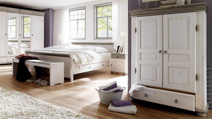 w scheschrank oslo highboard kiefer massiv wei lava 2 trg. Black Bedroom Furniture Sets. Home Design Ideas