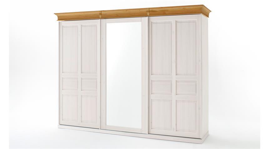 schwebet renschrank oslo 3 t rig schrank kiefer massiv wei braun. Black Bedroom Furniture Sets. Home Design Ideas