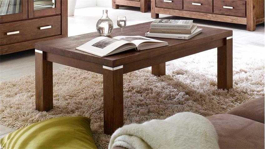 couchtisch victoria beistelltisch in akazie massiv braun. Black Bedroom Furniture Sets. Home Design Ideas
