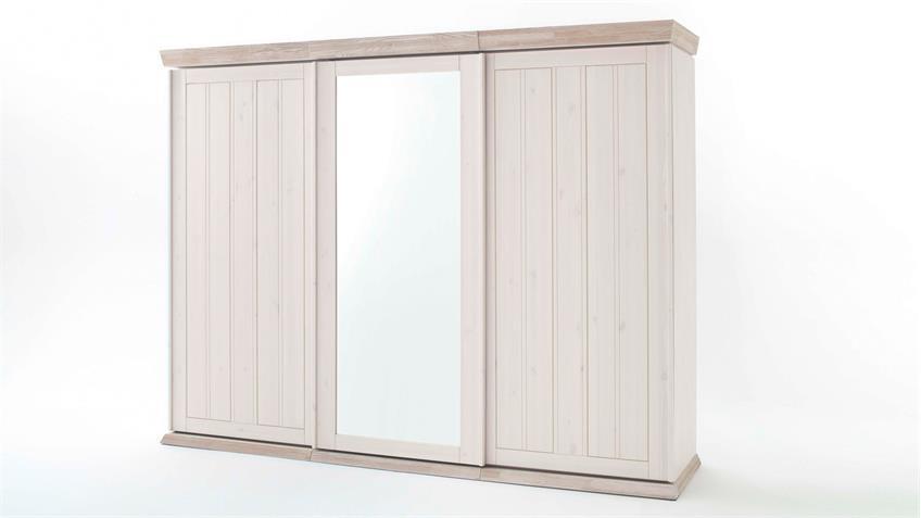 schwebet renschrank g teborg 3 t rig schrank kiefer massiv wei milan. Black Bedroom Furniture Sets. Home Design Ideas