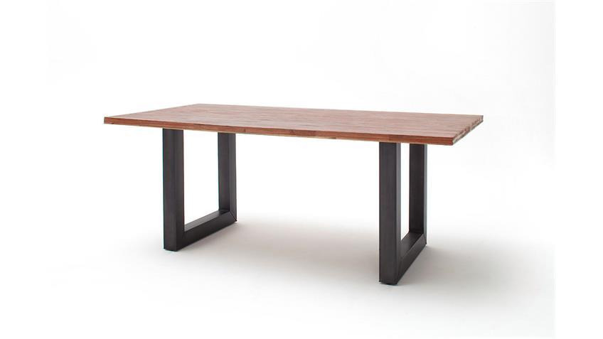 Esstisch Verona ~ Esstisch VERONA Tisch in Akazie massiv Balsamico und Metall 160×90 cm