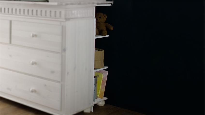 Unterstellregal HELSINKI in Kiefer massiv weiß