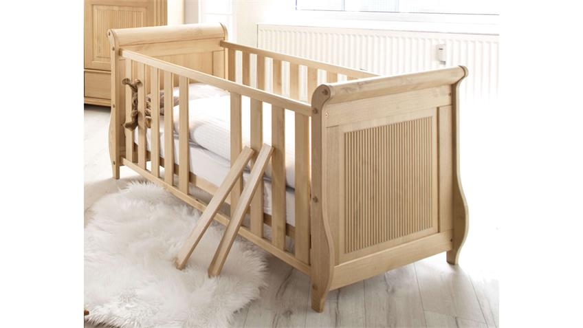 Babyzimmer Set HELSINKI 4-teilig in Kiefer massiv Natur