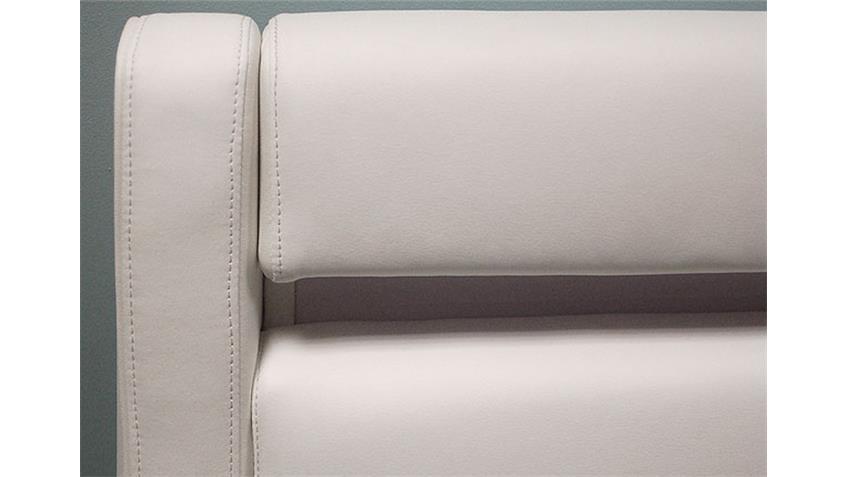Polsterbett GETANO 180x200 cm mit LED in Weiß